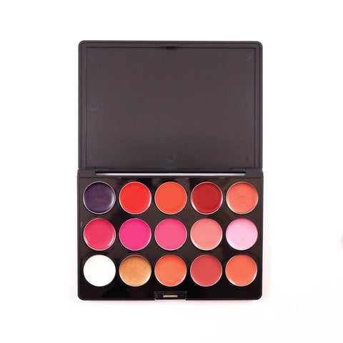 15-Color Lipstick Palette