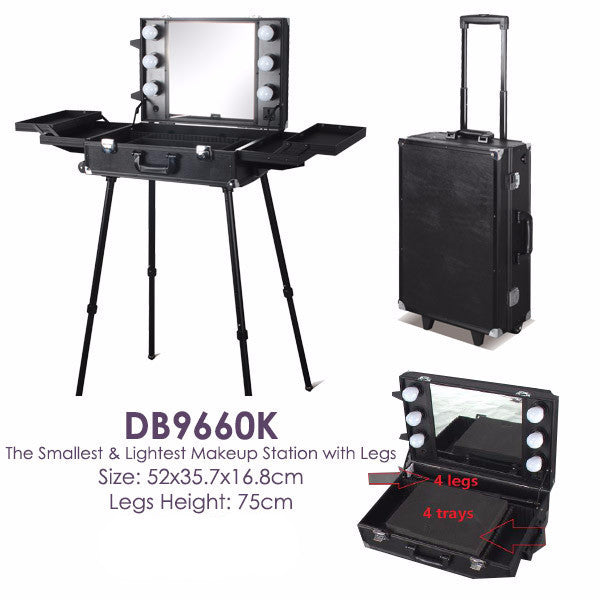 ... Small Portable Makeup Station With Legs (DB9660K) ...