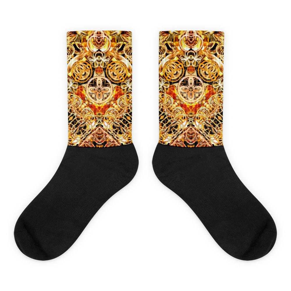 www.ultrapoi.com M (6-8) Fire Artist  Black Foot Socks