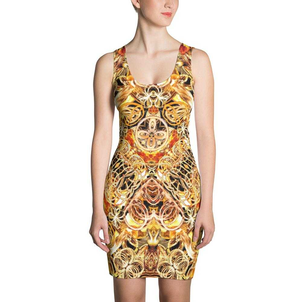 Fire Artist Women's Fitted Dress | www.ultrapoi.com