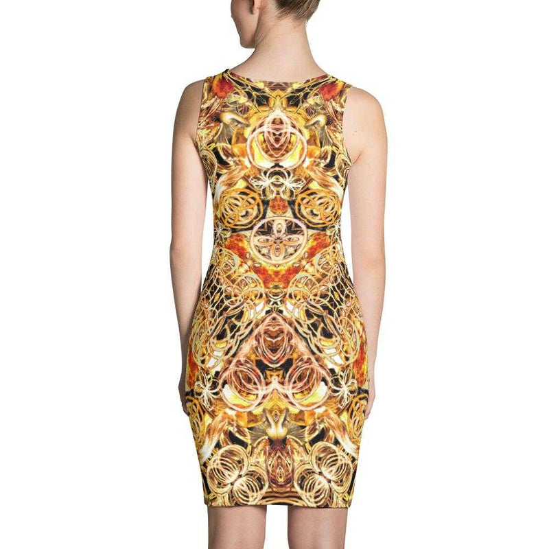 Fire Artist Women's Fitted Dress