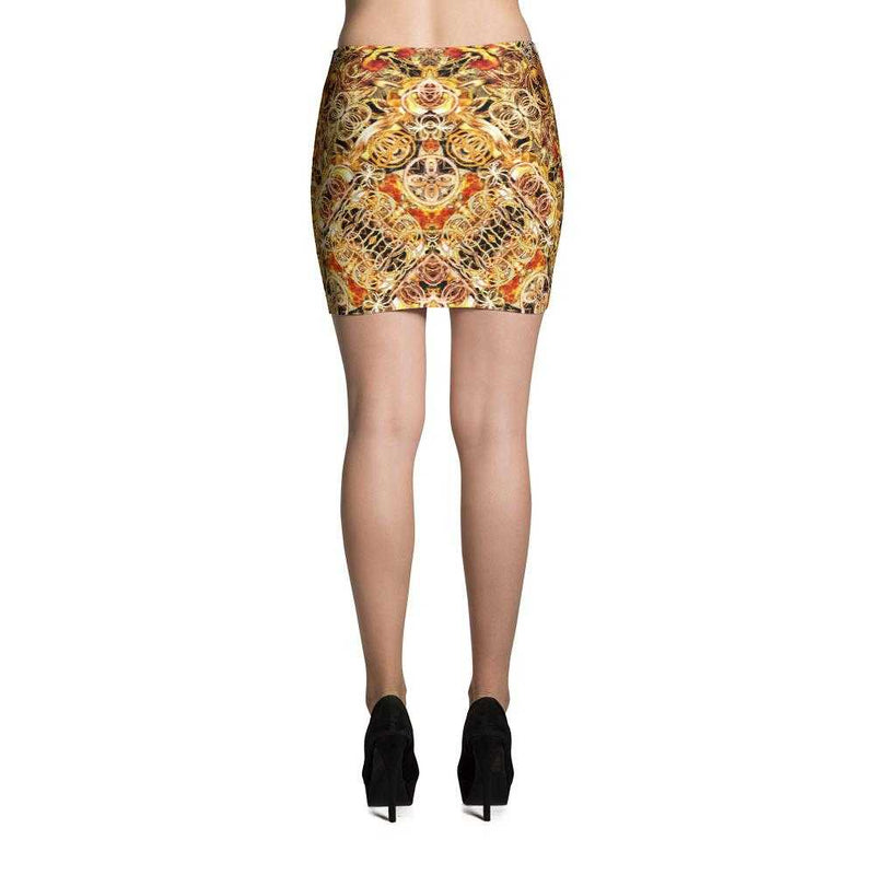 www.ultrapoi.com XS Fire Artist Women's Fitted Mini Skirts