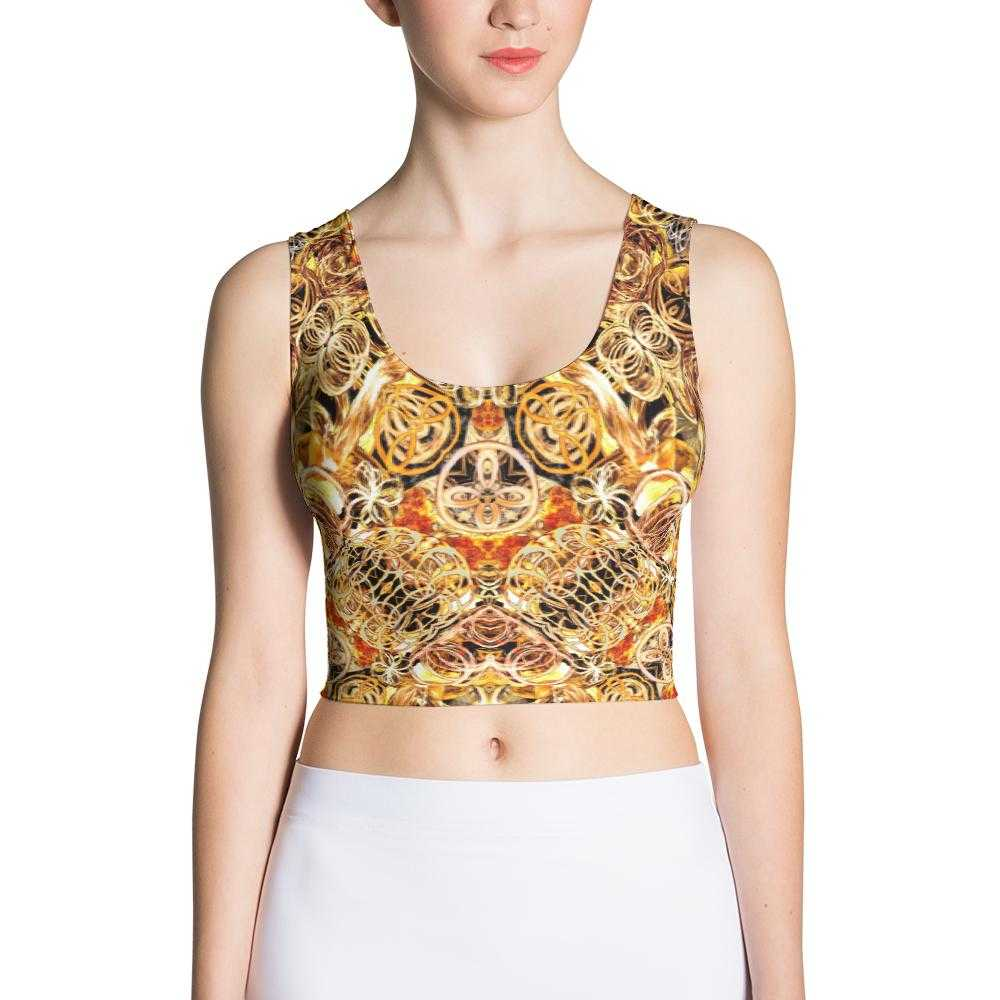 www.ultrapoi.com XS Fire Artist Women's Yoga Crop Top