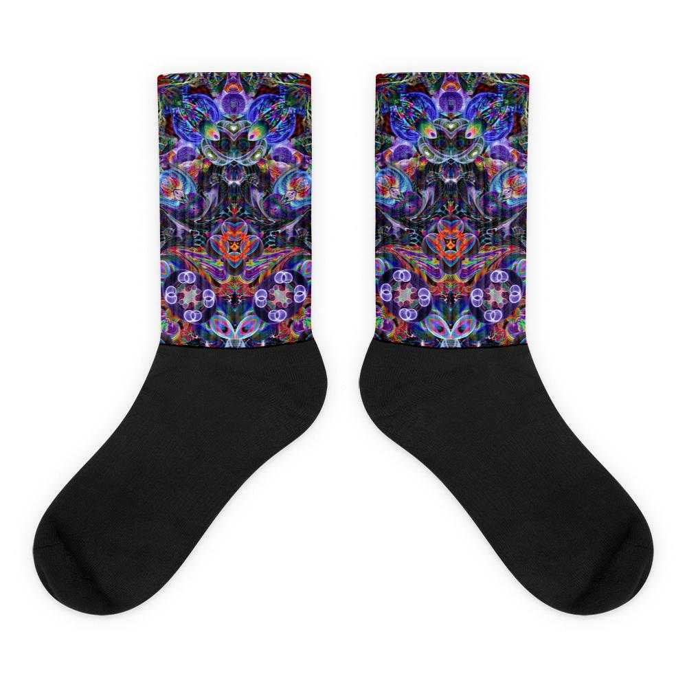www.ultrapoi.com M (6-8) Hoop Artist  Black Foot Socks