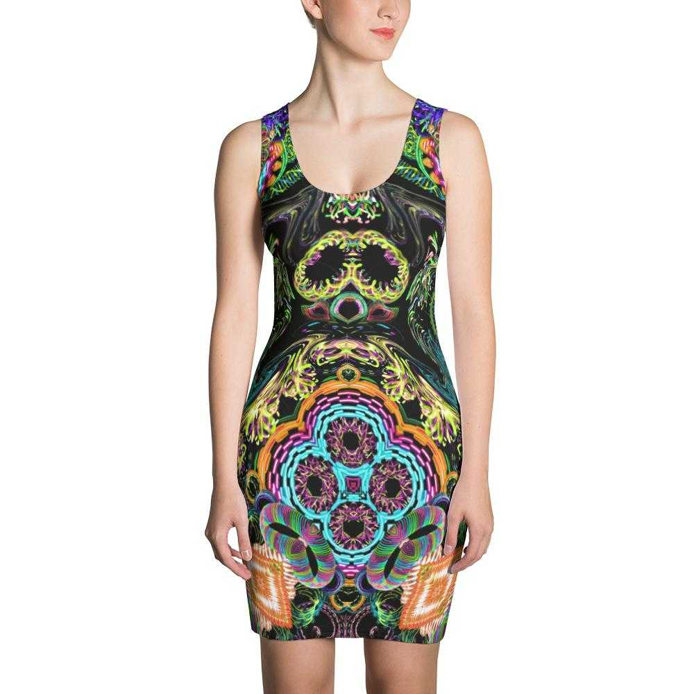 Orbit Artist Women's Fitted Dress | www.ultrapoi.com