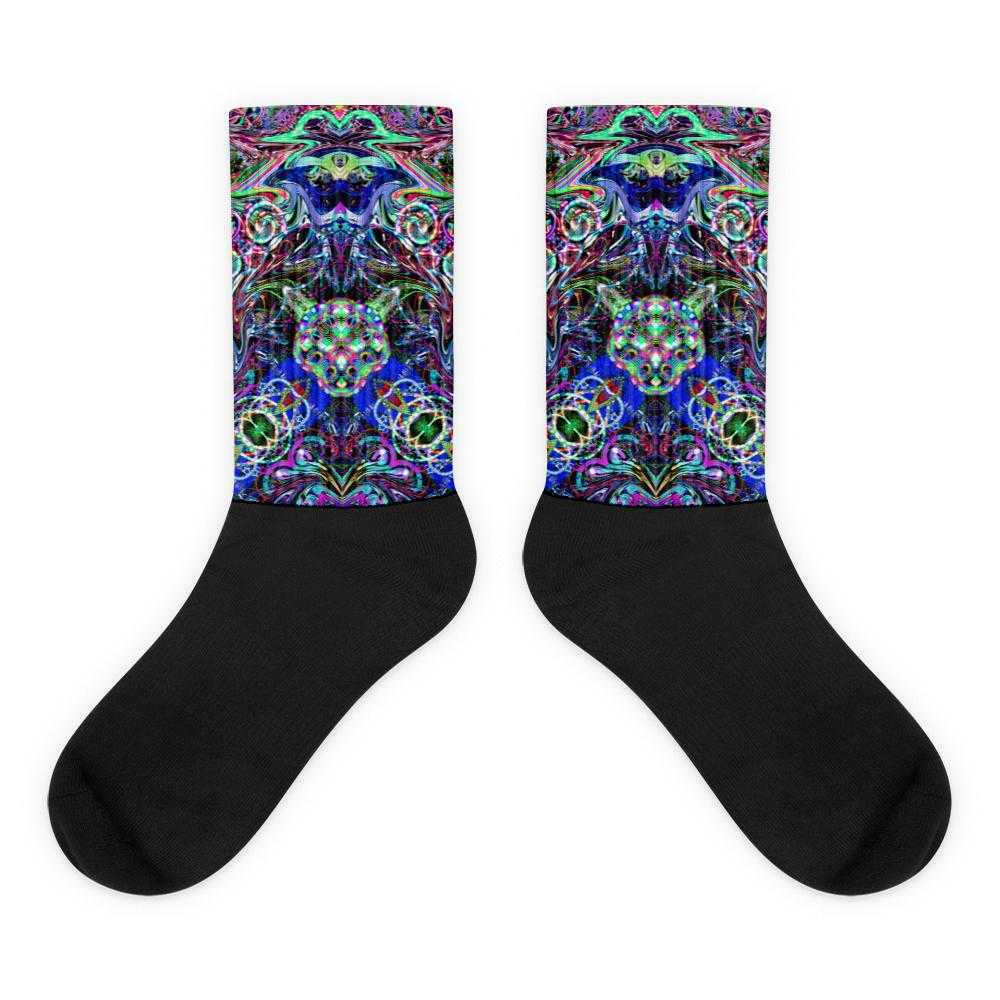 Poi Artist  Black Foot Socks