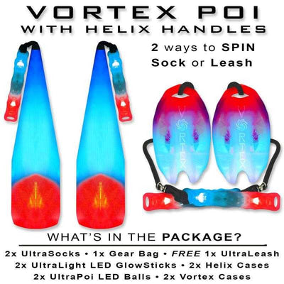 www.UltraPoi.com UltraPoi Sock Sets Vortex Poi with Helix Handles Vortex Poi with Helix Handles