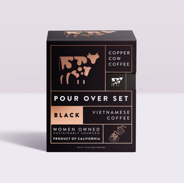 Copper Cow Coffee Pour Over Black