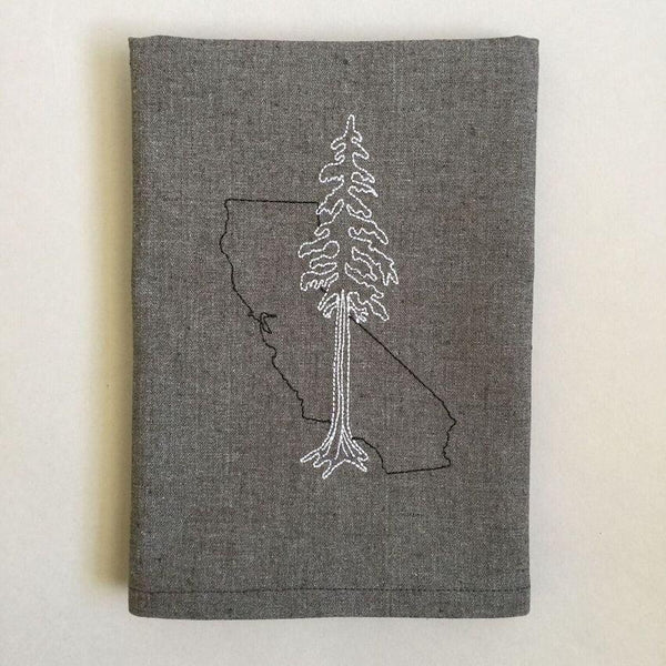 Kitchen Hand Towel w/ Embroidered CA Redwoods
