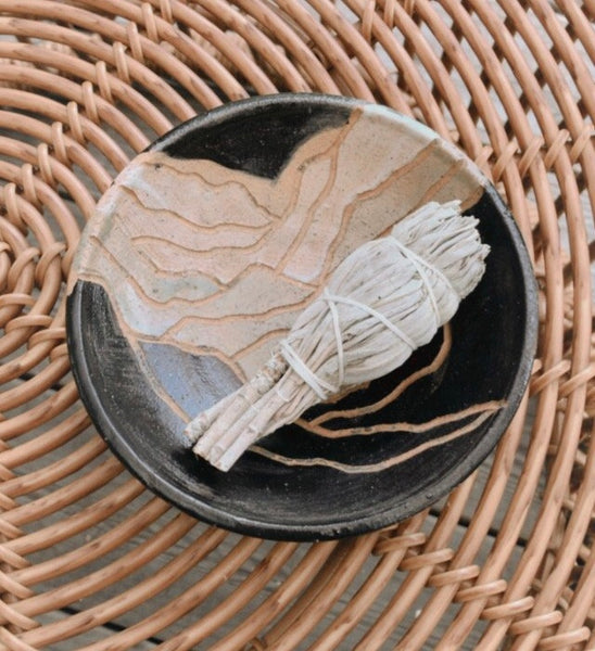 Catch All Ceramic Dish w/ Mountainscape
