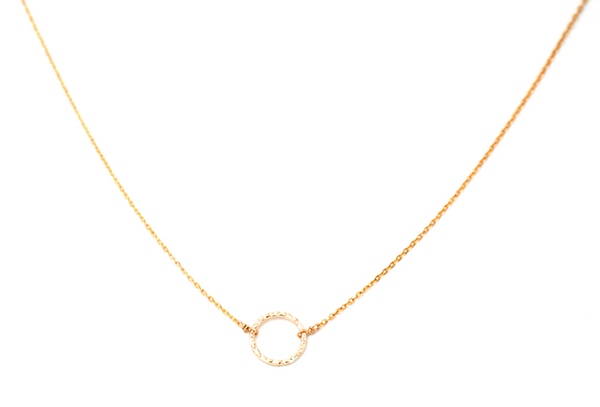 Karma Loop Necklace Gold Fill