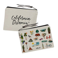 California Dreamin Zipper Pouch