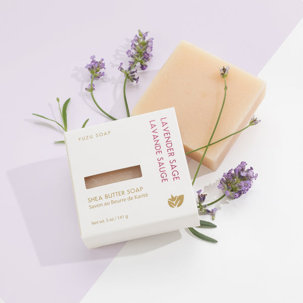 "Soap Bar w/ Shea Butter by Yuzu ""Lavender Sage"""