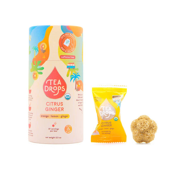 "Tea Drops Instant Tea Pods ""Citrus Ginger"""