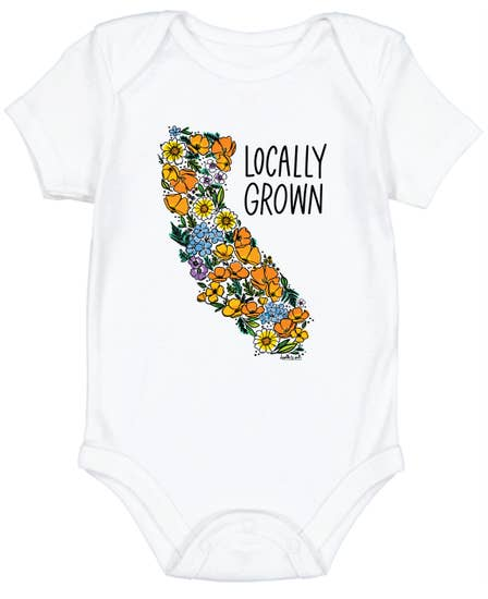 "Cotton Onesie ""Locally Grown"""