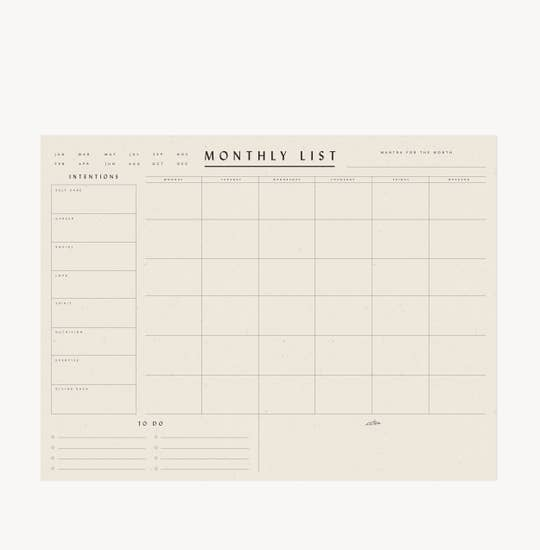 Planner Pad Monthly (24 pages)