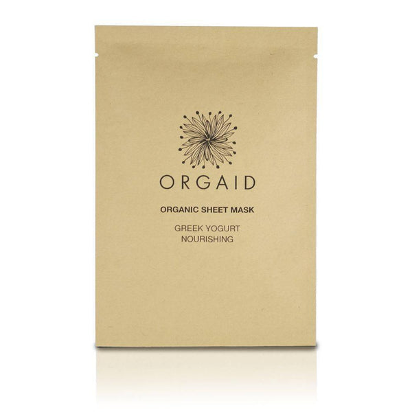 "Sheet Mask Singles by Orgaid ""Greek Yogurt & Nourishing"""