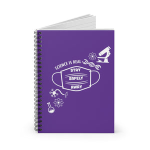 Science is Real Spiral Notebook - Purple