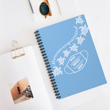 Load image into Gallery viewer, Turtles Spiral Notebook- Sky Blue