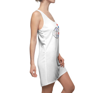 Women's Coverup Racerback Dress- USA & Ice-cream