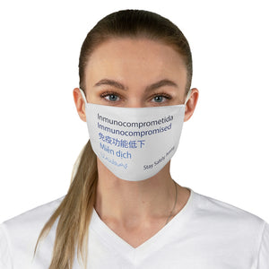 Women's Blue Languages Face Mask