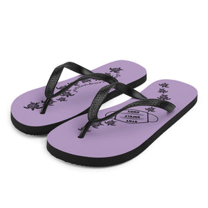 Heather Purple Flip-Flops