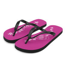 Load image into Gallery viewer, Magenta Pink Flip-Flops