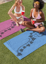 Load image into Gallery viewer, Beach Towel ~ Perfectly Purple Immunocompromised