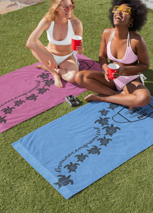 Beach Towel ~ Perfectly Purple Immunocompromised
