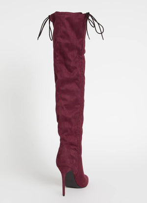 Fine as Wine Scrunched Thigh-High Boots