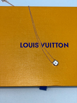 LV Rose Gold Necklace, Earrings, Bracelet Set