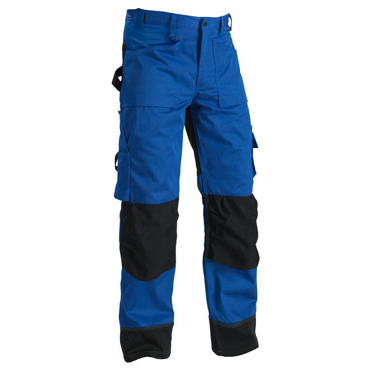 Blaklader 1523 1860 Craftsman Trousers Cornflower Blue Black By Specific Workwear