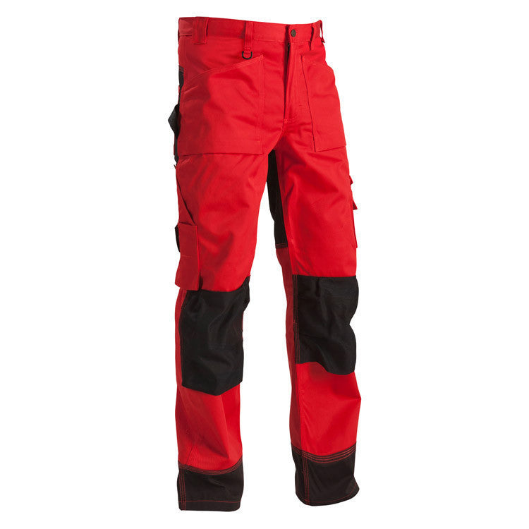 Blaklader 1523 Craftsman Trousers Red Black By Specific Workwear