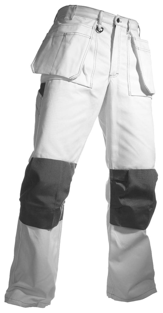 Blaklader 1531 Painters Trousers White Grey By Specific Workwear