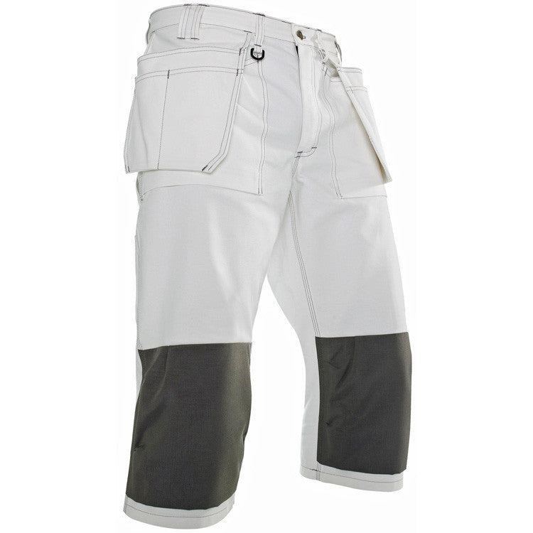 Blaklader 1540 1210 Painters Pirate 3/4 Trousers White Grey By Specific Workwear