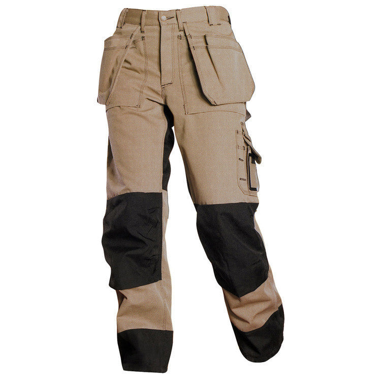 Blaklader 1580 1380 Heavy Duty Trousers With Loose Pockets  Khaki/Black