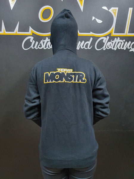 Team Monstr Hoody - Zip front