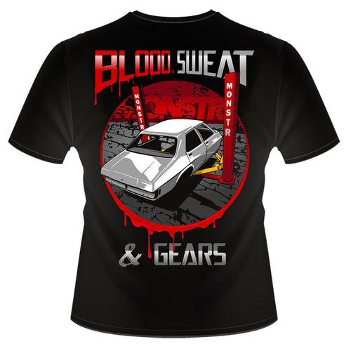 Blood Sweat and Gears Tee