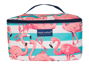 Flamingo Glam Cosmetic Case