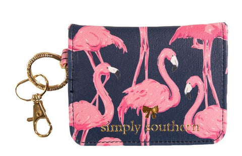 Butterfly Leather Wallet - Flamingo