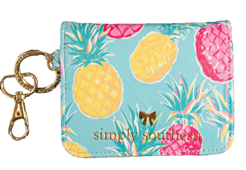 Butterfly Leather Wallet - Pineapple