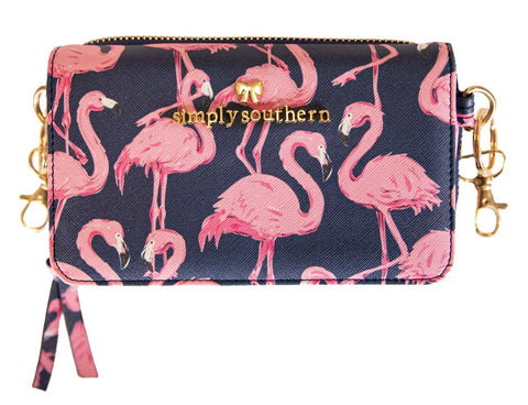 Phone Crossbody Purse - Flamingo