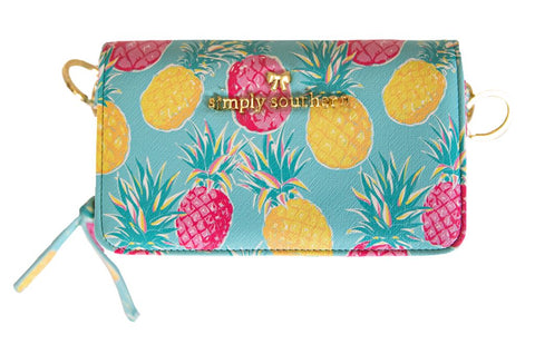 Phone Crossbody Purse - Pineapple