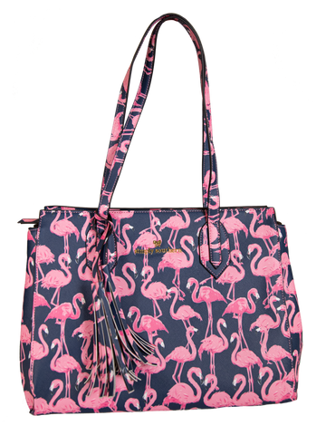 Leather Purse - Flamingo