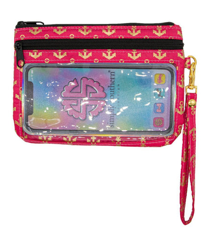 Phone Wristlet - Anchor (Pink)