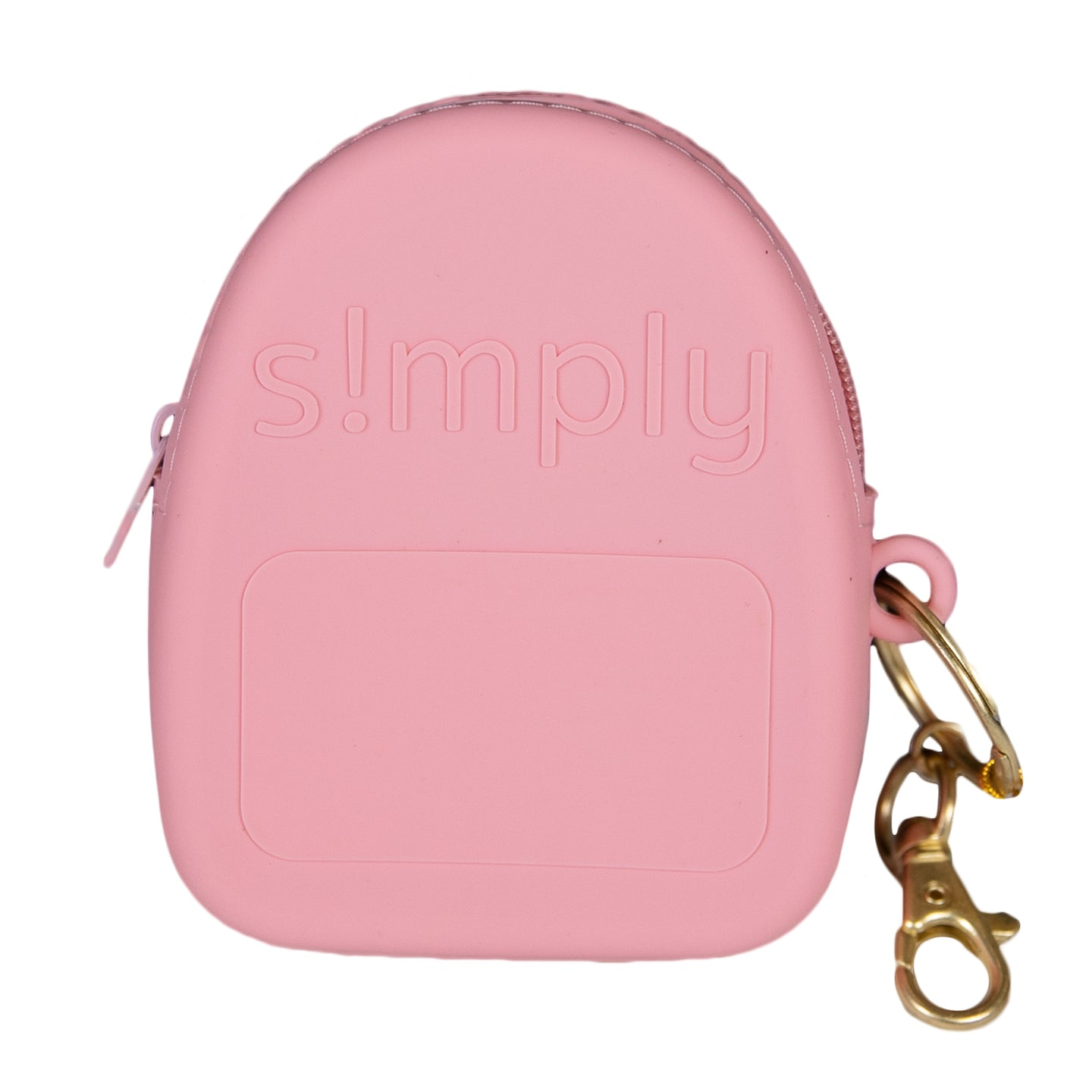 Silicone Backpack Coin Purse - Coral