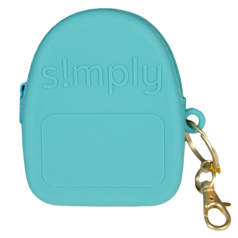 Silicone Backpack Coin Purse - Seafoam