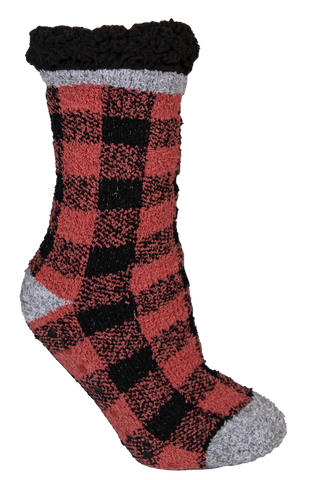 Plaid Red Camper Socks