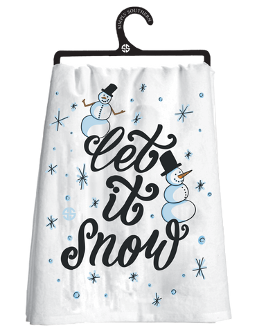 Simply Southern Dish Towel - Snow