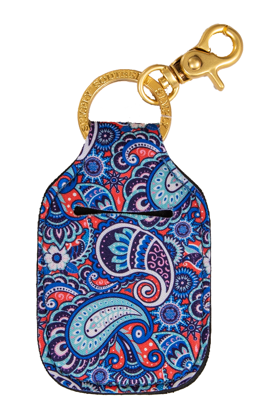 Keychain Sanitizer Holder - Paisley